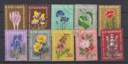 ROUMANIE //  Lot De Timbres Anciens // Fleurs  //  A VOIR  !!!! - Romania