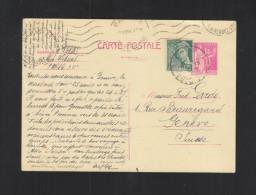 CP 1939 Pour La Suisse - Biglietto Postale
