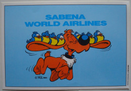 Roba. - Boule & Bill. - Autocollant Sabena 1989. - Stickers