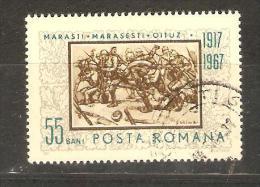 ROMANIA - 1967 Battle Of Marasesti 55b CTO   SG 3481  Sc 1938 - 1948-.... Republics
