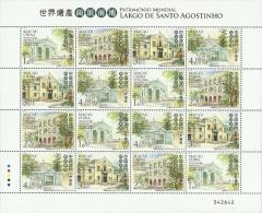mac1006m Macau 2013 World Heritage – St. Augustine's Square m/s