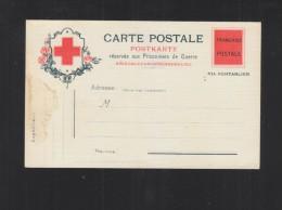 Carte Postale Reservee Aux Prisonniers De Guerre Franchise Postale - Poststempel (Briefe)