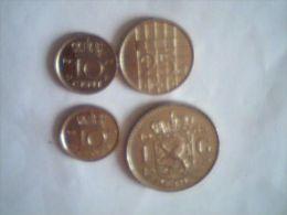 Lot Composé De 1 Couronne (1968),25 Cents (1987),10 Cents (1973),10 Cents (1975) - Pays-Bas