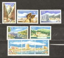 ROMANIA - 1971 Tourist Scenes Set MH *   SG 3799-3804  Sc 2235-40 - 1948-.... Republics