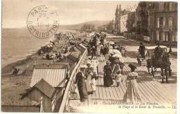 CPA - CALVADOS - VILLERS SUR MER - Les Planches, La Plage Et La Route De Trouville -1912 - Villers Sur Mer