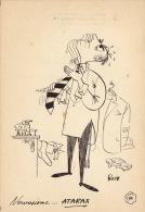 Dessin Publicité Par ROSY Envoi Timbré Au Dos 1956 Atarax UCB 20cm X 14cm - Posters