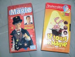 Lot 2 K7 Cassettes Vidéo Vhs, Tours De Magie - Enfants & Famille