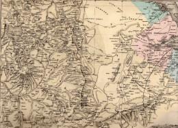CARTE  -   LA  FRANCE -  OBOCK -  DJIBOUTI  - Gravée Par Lorsignol,  Dressée Par J. Migeon  - Carte Plastifiée. - Cartes Géographiques