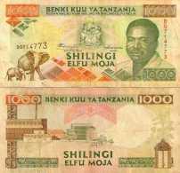 TANZANIE 1000 Shilingi (1993)  P.27c  TTB+ - Tanzania