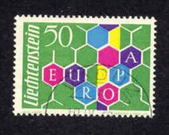 Liechenstein 355 Obl Europa 1960 Cote 80 A Moins De 20%. - Gebruikt