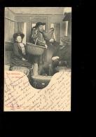 Les Gêneurs En Wagon Ferroviaire Chemin De Fer Train  ( Phototypie Bergeret Nancy ) - Trains