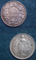 M_p> Svizzera 1/2 Franco O 50 Centesimi 1951 In Argento,2,5 Grammi Titolo 835/oo - Svizzera
