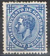 Sello 10 Cts Alfonso XII 1876, Impuesto Guerra, Num 184 * - Impuestos De Guerra