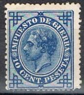 Sello 10 Cts Alfonso XII 1876, Impuesto Guerra, VARIEDAD Impresion, Num 184a * - Impuestos De Guerra