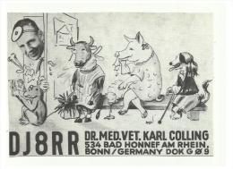GERMANY  Radio Amateur - Bonn - DJ8RR - With Comic Picture At The Doctors Vet - Radio Amatoriale