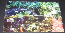 GREECE PHONECARDS TURTLE PUZZLE OF 4 CARDS ,-USED-VERY NICE - Tortues