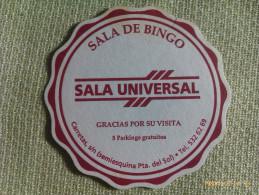Posavasos Sala De Bingo Universal. Calle Carretas. Madrid. España - Sous-bocks