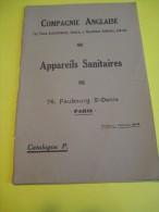 Appareils Sanitaires/ Compagnie Anglaise/The Paris Earthenware C� Ltd/LONDON/1930  (1924)       CAT54