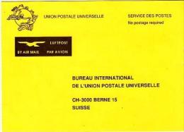 Postcard To Buureau International UPU    (Z-4601) - U.P.U.
