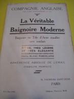 La Véritable Baignoire Moderne / Compagnie Anglaise/The Paris Earthenware C° Ltd/LONDON/Vers 1930       CAT53 - Catalogues