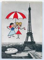 PARIS - Carte Fantaisie - PICOLO Et PICCOLETTE - PICOLO à LA TOUR EIFFEL - Francia
