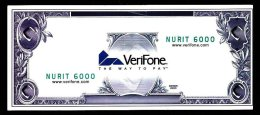 "Test Note ""VERIFONE - USA"", W/o Value, Testnote, Beids. Druck, RRRR, Used, 154 X 66 Mm - USA"