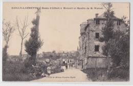 SAILLY-LAURETTE - Route D'Albert à Moreuil Et Moulin De M. Warnet - Autres Communes