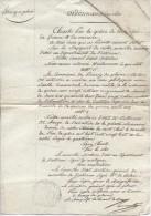 Ordonnance Royale Du 20/8/1828 Autorisant La Commune De Brazey-en-Plaine à Vendre Une Ruelle Communale - Documents Historiques