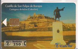 CASTILLO DE SAN FELIPE DE BARAJAS CARTAGENA DE INDIAS COLOMBIA - Tarjetas Telefónicas