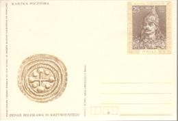P005 Poland Postal Card 1989 - Denar, Boleslaw III - Stamped Stationery