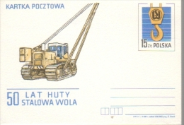 P008 Poland Postal Card 1988 - Tractor - Enteros Postales