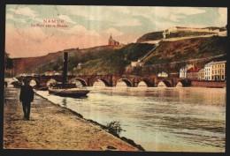 NAMUR - Le Pont Sur La Meuse - Couleur 1912   // - Namur