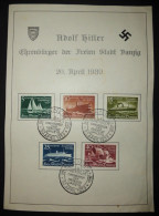 Deutsches Reich, Hitler, Des Führers Geburtstag 20. April 1939, Ehrenbürger Der Freien Stadt Danzig - Deutschland