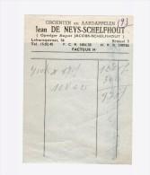 Facture Papier Bon Reçu Brussel - Factures & Documents Commerciaux