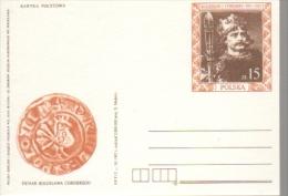 P028 Poland Postal Card 1987 - Denar, Boleslaw I Coin - Stamped Stationery