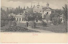 Sinaia Romania, Baile Eforiei Famous Building Architecture, C1900s Vintage Postcard - Romania