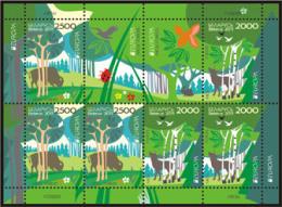Belarus Biélorussie 2011, Forests. EUROPA CEPT, Bison, Rabbit, Butterfly, Deer. Sheetlet ** - 2011