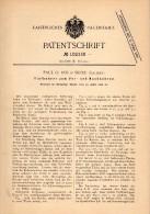 Original Patentschrift - Paul O. Roj In Skole , 1898 , Tiefbohrer , Bergbau , Tunnelbau , Russland , Ukraine !!! - Historische Dokumente