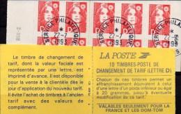 "Freimarken 1991 Marianne Frankreich 2850 Im MH 01/91 O 20€ Selbstklebend Heft 10xTyp Briat ""D"" History Booklet Of France - Uso Corrente"