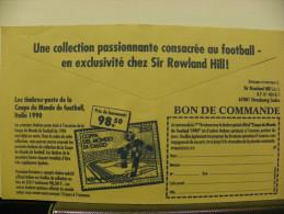 Enveloppe CCP Recto Epargne Logement Verso Timbres Coupe Monde Italie 90 - Reclame