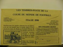Enveloppe CCP Recto Carte Bleue Verso Timbres Coupe Monde Italie 90 - Advertising
