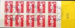 "Freimarken 1989 Marianne Frankreich 2751 MH 01/89 O 20€ Selbstklebend Heft 5xTyp Briat ""Do/Du"" History Booklet Of France - Carnets"
