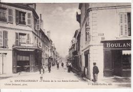 CHATELLERAULT (Vienne) Entrée Rue Sainte-Catherine-Boucherie Et Boulangerie-Edition Boiron-Guillot-Photo Delaunet- - Chatellerault