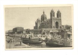 Cp, 13,Marseille, LA Cathédrale Et Le Quai De La Joliette - Joliette, Port Area