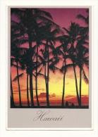 Cp, Etats-Unis, Hawaï, Sunset In Hawaiian Skies, Voyagée 1986 - Etats-Unis