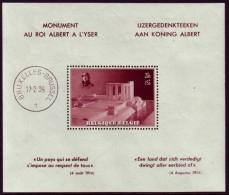 Belgie 1938 - Koning Albert - IJzergedenkteken - OBP BL8** - Blocks & Sheetlets 1924-1960