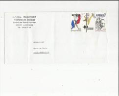 Enveloppe Timbrée Cachet Manuel De S A R L  Redonnet Fabrique De Meubles A Lusignan 86 Adres A BUTa Mondeville 14 - Marcophilie (Lettres)