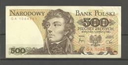 TOP!! POLEN * BANKNOTE 500 PIECSET  ZLOTYCH *  * NARODOWY BANK POLSKI **!! - Polen