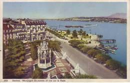 SUISSE - GENEVE - Monument Brunswick Et Vue Sur La Rade - Nr 1501 Sartori à Genève - D9 514 - GE Genève