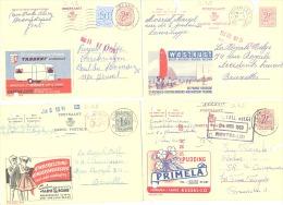 Lot De 4 Publibels - Kust -Kessel-Lo- Ronse - St Niklaas Waas- N°  1619, 1911, 1684 Et ?(sf48) - Stamped Stationery